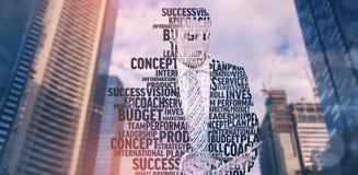 商人的综合图象在专业术语的 库存照片