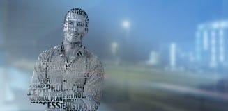 商人的综合图象在专业术语的 免版税库存图片