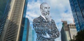 商人的综合图象在专业术语的 免版税库存照片