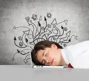 商人睡眠 免版税库存图片