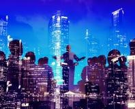 商人研讨会会议会议城市训练概念 免版税库存照片