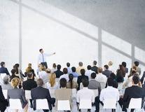 商人研讨会会议会议介绍概念 免版税库存图片