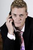 商人移动电话 免版税库存图片
