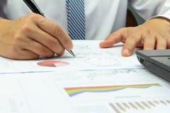 商人综合报告资本市场计划财务 库存照片