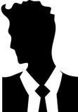 年轻商人英俊的人商标 皇族释放例证
