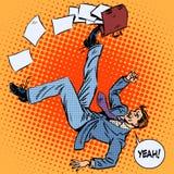 商人获得股份单企业成功 库存例证
