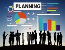 商人计划的战略想法讨论概念 免版税库存图片