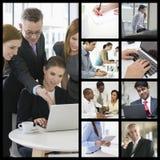 商人计算机想象工作在办公室的 免版税图库摄影