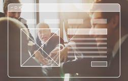 商人讨论计划分析概念 免版税库存图片