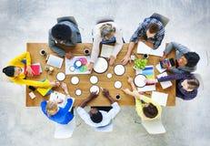 商人设计小组激发灵感会议概念 免版税库存照片