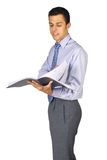 商人读取 免版税图库摄影