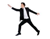 商人跳 免版税图库摄影