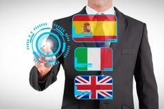 商人身分和指向的综合图象 免版税库存图片
