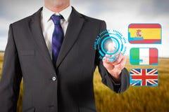 商人身分和指向的综合图象 免版税库存照片