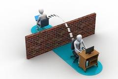 商人送电子邮件 免版税图库摄影