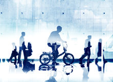 商人通勤者城市生活运输方式概念 免版税图库摄影