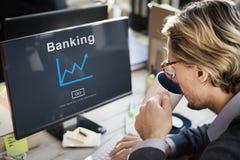 商人银行业务成长图表概念 库存图片
