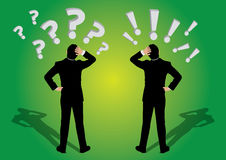 商人问题和惊叹号 向量例证