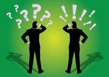 商人问题和exaclamation标记 向量例证