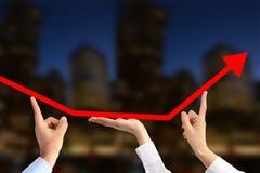 商人队为经济增长的 图库摄影