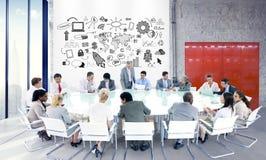 商人队配合合作职业合作 免版税库存图片