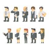 商人集合平的设计  免版税库存图片
