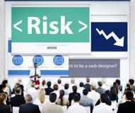 商人风险网络设计概念 免版税库存图片