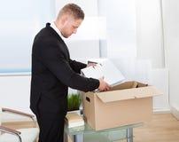 商人移动的办公室 免版税库存照片