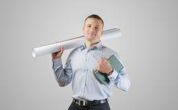 年轻商人建筑师 免版税库存图片