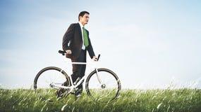 商人绿色户外企业放松概念 库存照片