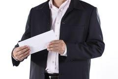 商人Shocked收到了临时解雇通知 免版税库存照片
