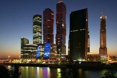 商务中心国际莫斯科摩天大楼 库存照片
