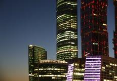 商务中心国际莫斯科摩天大楼 免版税库存照片