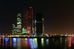 商务中心国际莫斯科摩天大楼 库存图片