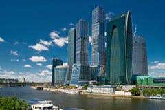 商务中心城市莫斯科俄国 免版税库存图片