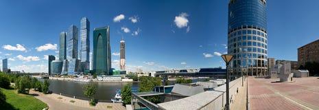 商务中心城市莫斯科全景 免版税库存图片