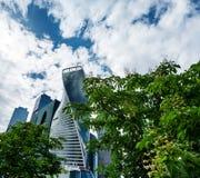 商务中心城市莫斯科摩天大楼 库存照片