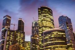 商务中心城市莫斯科摩天大楼 库存图片