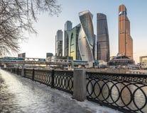 商务中心城市莫斯科 免版税库存图片