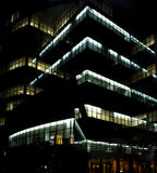 商务中心夜间 图库摄影