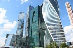 商务中心莫斯科城市 高层建筑物 免版税库存图片