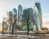 商务中心莫斯科城市 库存图片