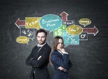 商务伙伴和企业计划 免版税库存图片