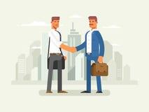 商务伙伴平的设计 向量例证
