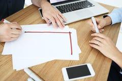 商务伙伴开一次会议在办公室 图库摄影
