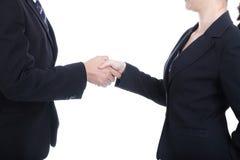 商务伙伴成功的事务的震动手 免版税库存图片