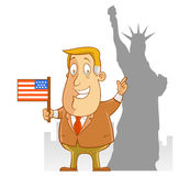 商务旅游向美国 免版税库存照片