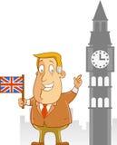 商务旅游向英国 库存照片