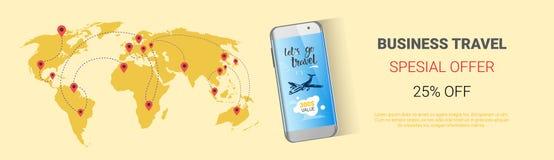 商务旅游特价优待Template Banner, Tourism Company机构季节性销售水平的海报设计 库存照片