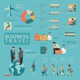 商务旅游infographics 库存照片